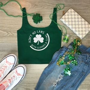 White Claws St Patrick's Day Tank top Cropped